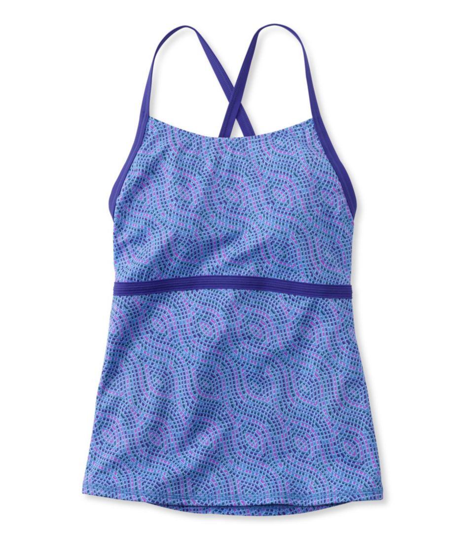 L.L.Bean Active Swim Collection, Tie-Back Tankini Print