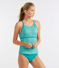 L.L.Bean Active Swim Collection, Tie-Back Tankini Print