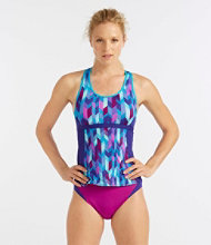 L.L.Bean Active Swim Collection, Racerback Tankini Top, Print