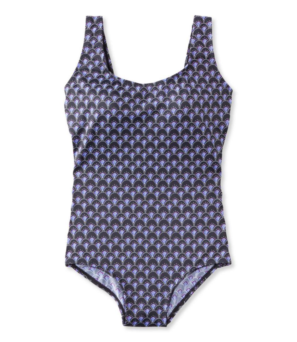 BeanSport® Swimwear, Tank with Soft Cups Fan Print