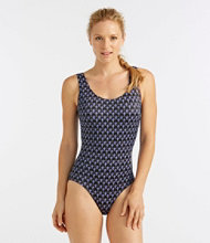 BeanSport Swimwear, Tank with Soft Cups Fan Print