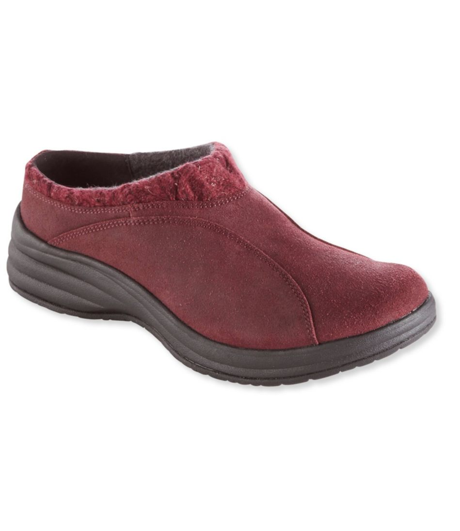 Women's North Haven Knit Trim Suede Clogs by L.L.Bean