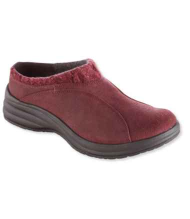 North Haven Knit-Trim Suede Clogs