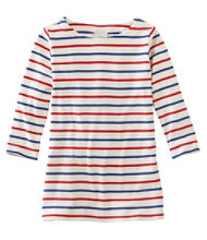 French Sailor's Shirt, Three-Quarter-Sleeve Boatneck Multi-Stripe