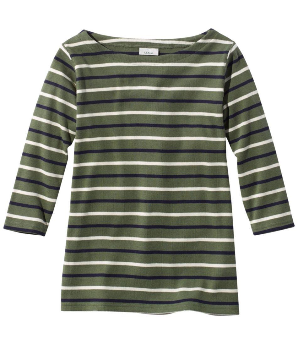 French Sailor's Shirt, Three-Quarter-Sleeve Boatneck Multi-Stripe