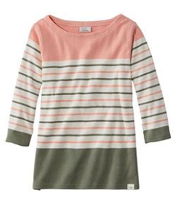 Women's French Sailor's Shirt, Three-Quarter-Sleeve Boatneck Multi-Stripe