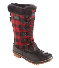 Women's Waterproof Rangeley Pac Boots, Tall Plaid Insulated
