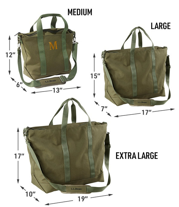 Hunter's Tote Bag, Zip-Top with Strap, Medium, Olive Drab, large image number 2