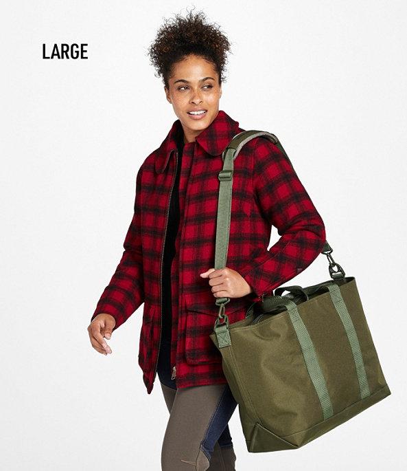Hunter's Tote Bag, Zip-Top with Strap, Medium, Olive Drab, large image number 4