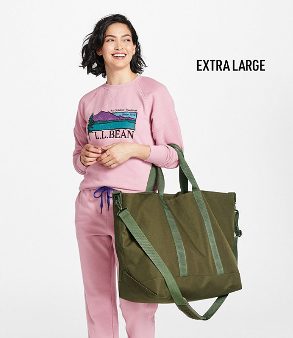 Hunter's Tote Bag, Zip-Top with Strap, Medium, Olive Drab, large image number 5