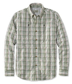 Men's No Fly Zone Long-Sleeve Fishing Shirt, Plaid