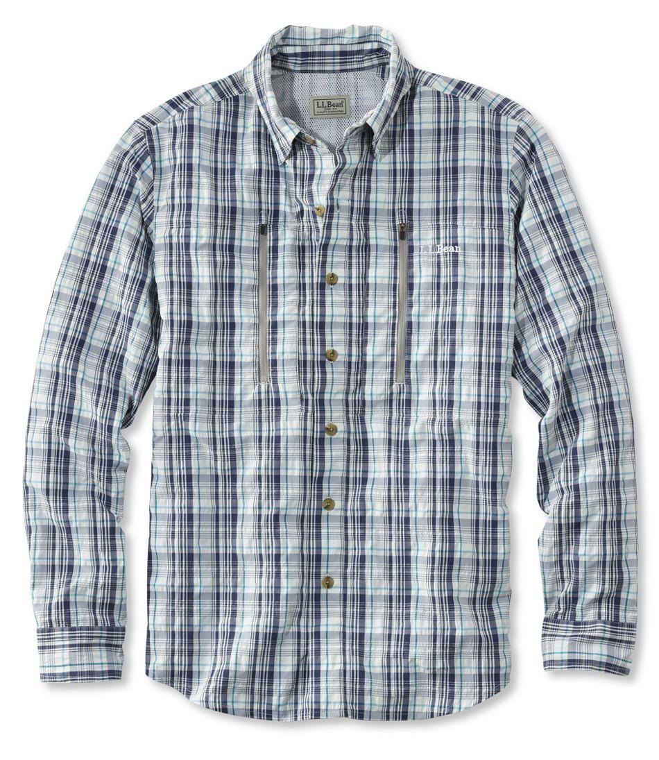 Men's No Fly Zone Long-Sleeve Fishing Shirt, Plaid