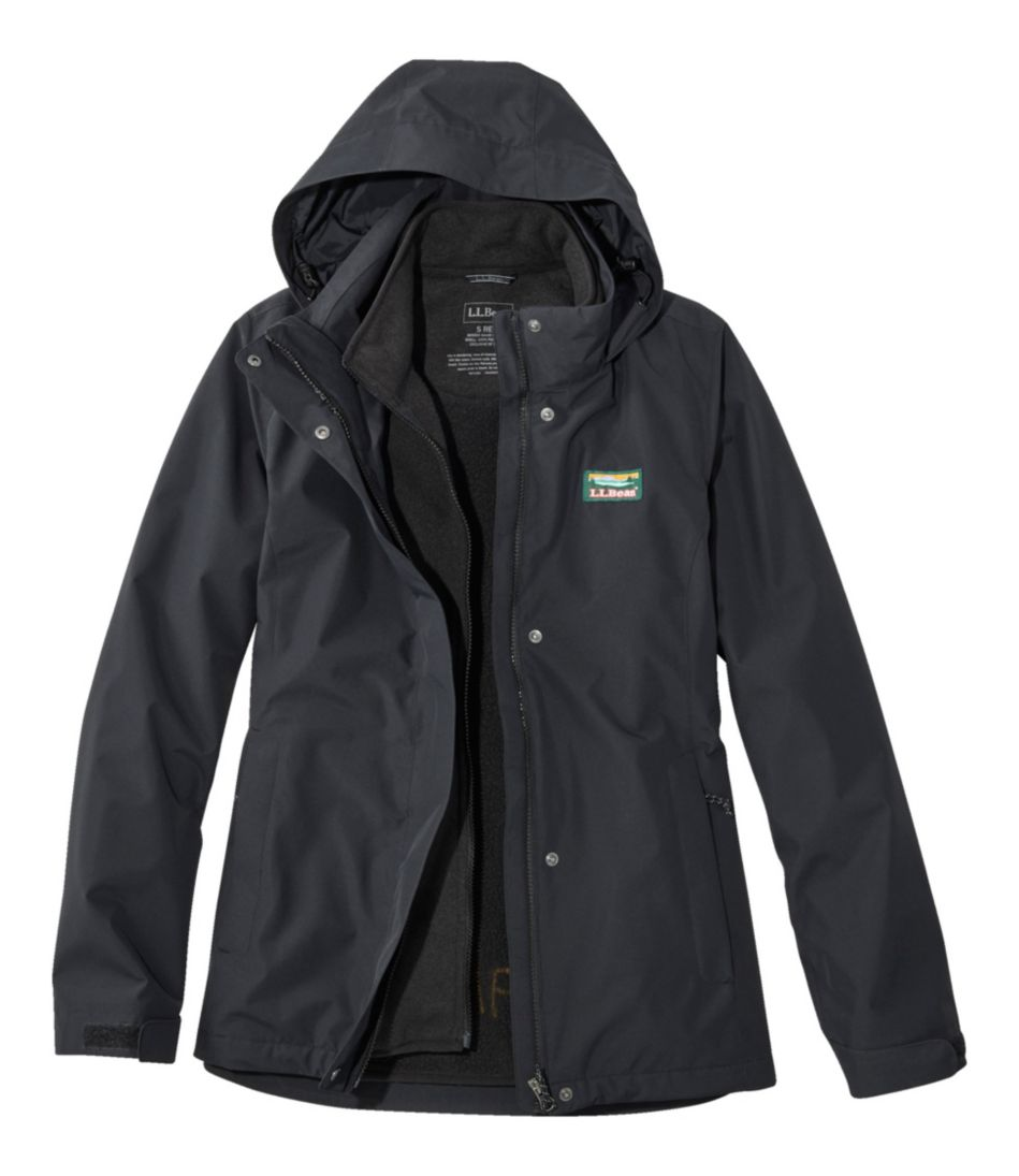 Womens Llbean Sweater Fleece 3 In 1 Jacket