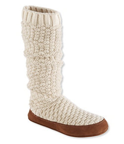 L.L.Bean Slipper Socks, Tall Knit