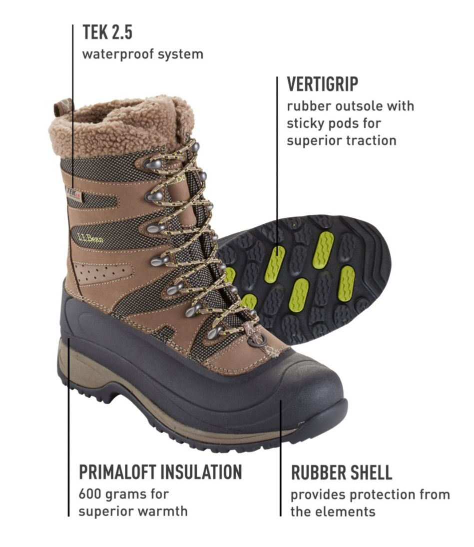 Women's Waterproof Wildcat Pro Boots, Insulated Lace-Up
