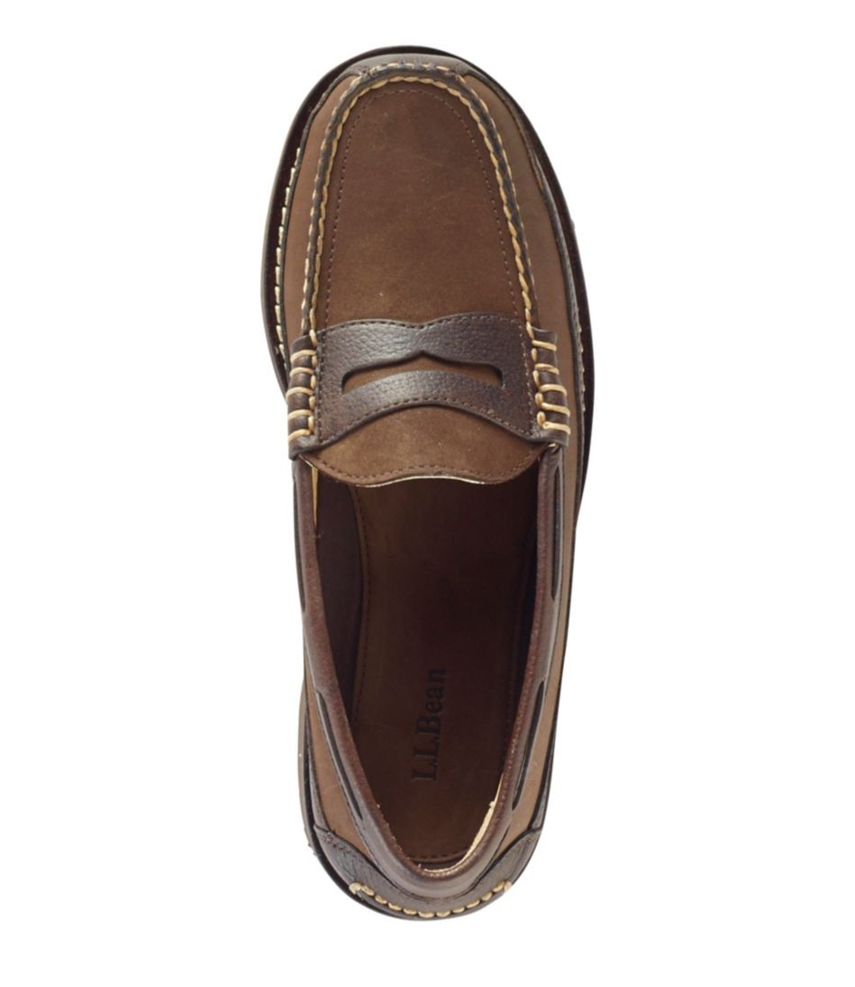 Men's Allagash Penny Loafers, Leather/Nubuck