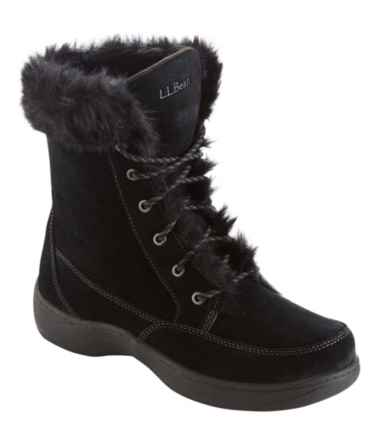 Women's Waterproof Nordic Casual Boots, Suede Lace-Up