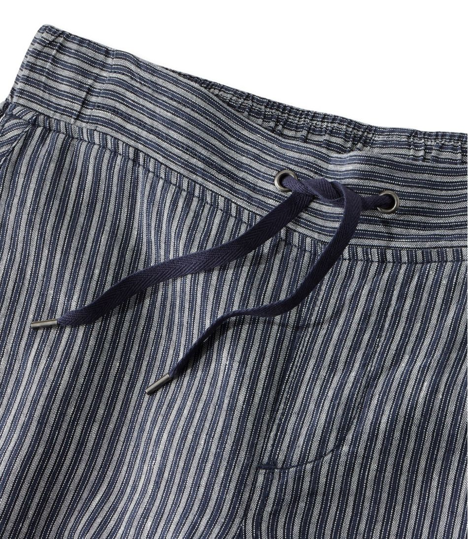 Premium Washable Linen Pants, Stripe