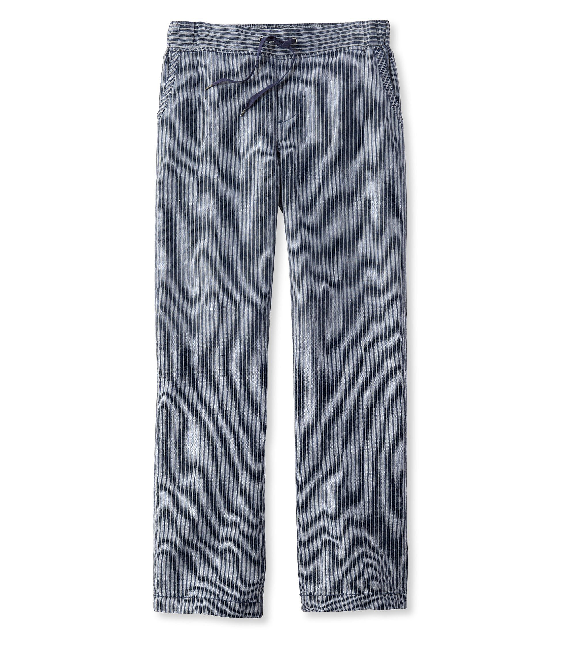 Premium Washable Linen Pants, Stripe by L.L.Bean
