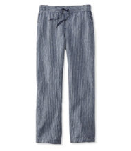 Women's Premium Washable Linen Pants, Stripe