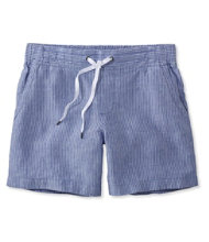 Premium Washable Linen Shorts, Stripe