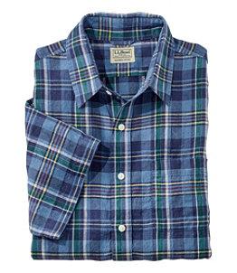 Men's L.L.Bean Linen Shirt, Slightly Fitted Short-Sleeve Plaid