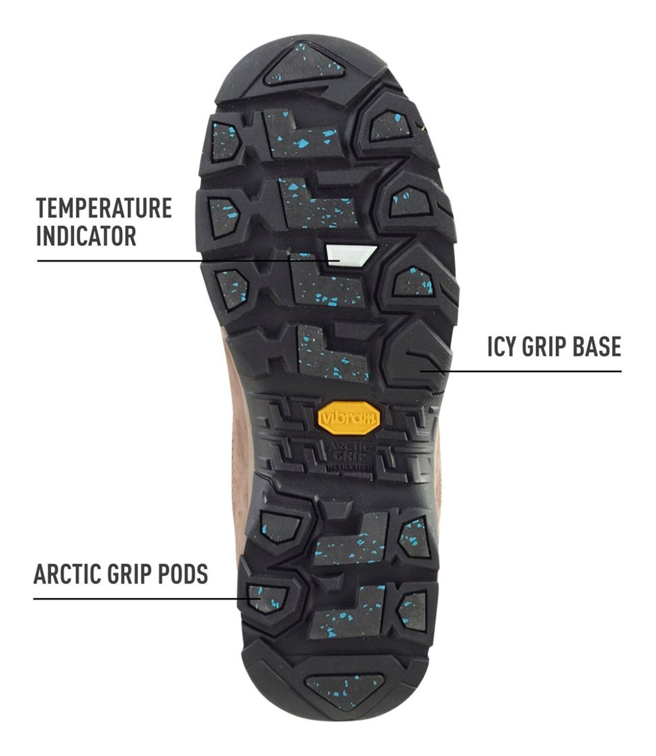 Men's Snow Sneakers with Arctic Grip, Low Lace-Up