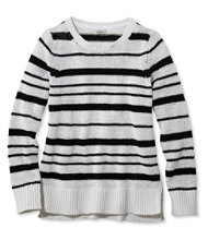 Soft Tape-Yarn Sweater, Pullover Stripe