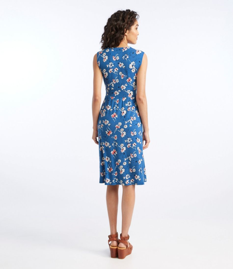 Summer Knit Dress, Sleeveless Multifloral