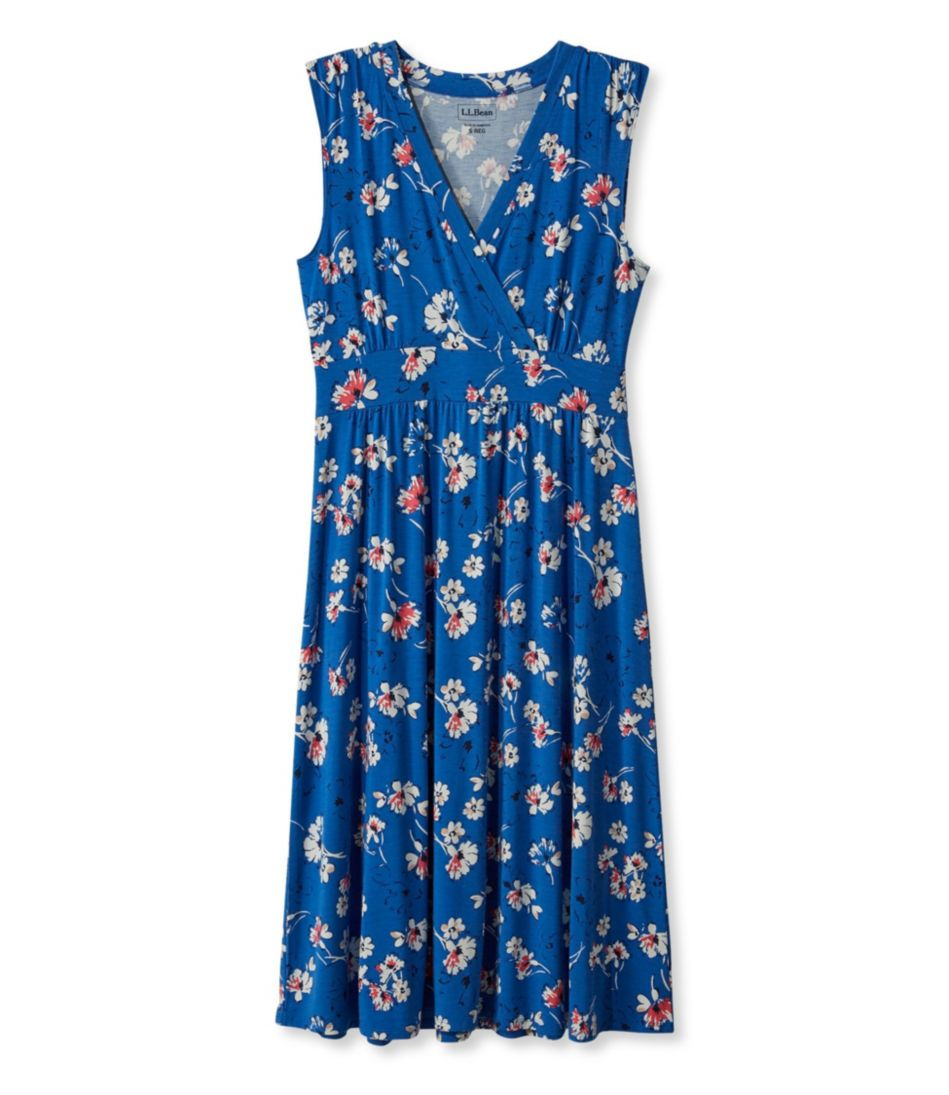 Women's Summer Knit Dress, Sleeveless Multifloral