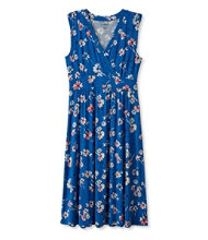 Summer Knit Dress, Sleeveless Multifloral