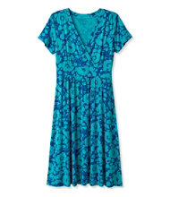 Women's Summer Knit Dress, Short-Sleeve Bifloral