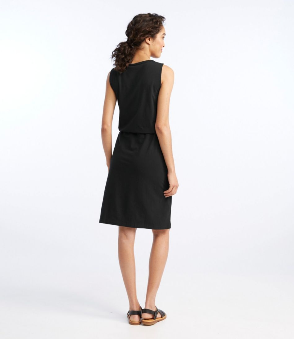 Splitneck Tie-Waist Dress