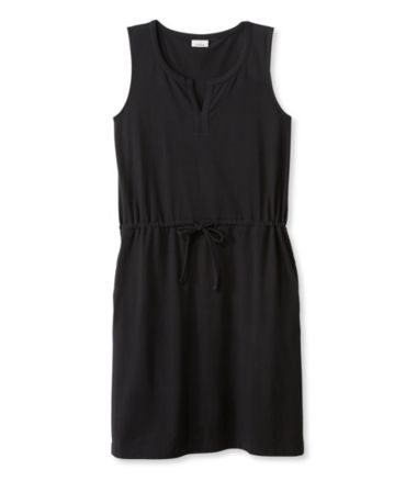 Splitneck Tie-Waist Dress