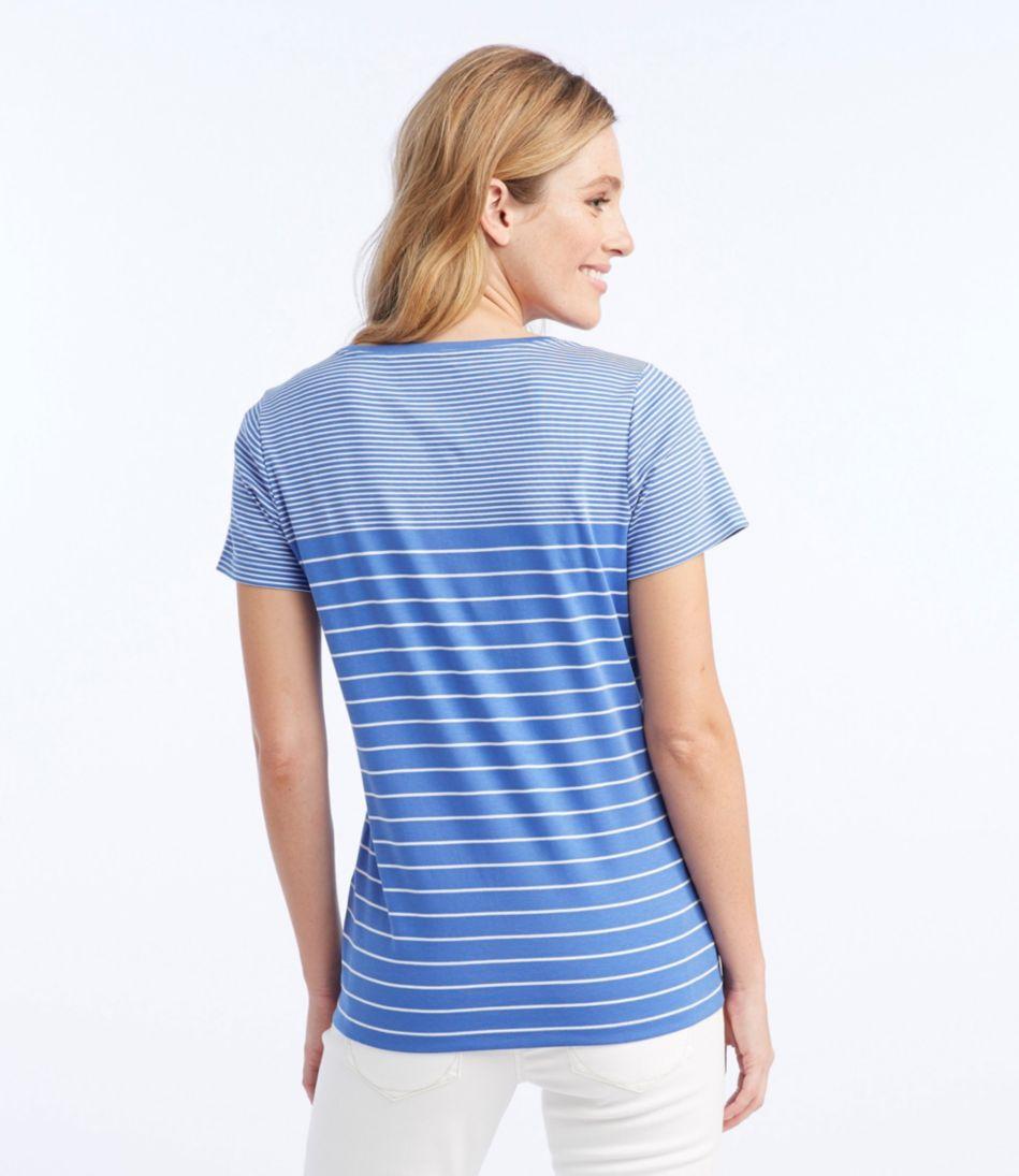 Pima Cotton Shaped V-Neck, Short-Sleeve