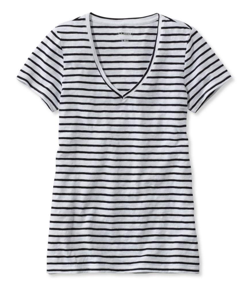 striped v neck t shirt women's