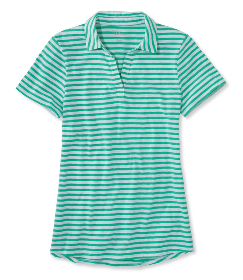 Women's West End Fitted Polo, Short-Sleeve Splitneck Stripe