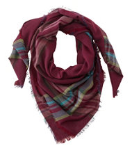 Women's Lightweight Wool-Blend Scarf, Plaid