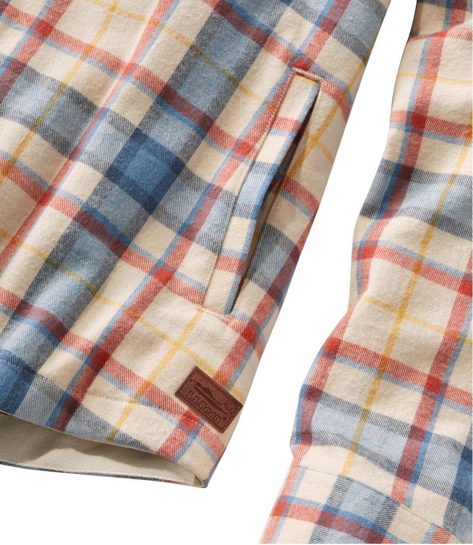 Women's Scotch Plaid Flannel Shirt, Relaxed Zip Hoodie