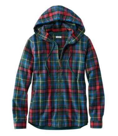 Scotch Plaid Flannel Shirt, Relaxed Zip Hoodie
