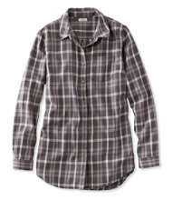 Washed Twill Tunic, Long-Sleeve Plaid