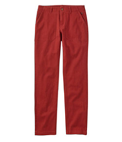 Women's Essential Utility Chinos, Favorite Fit Slim-Leg