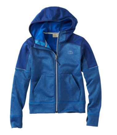 Kids' Mountain Fleece Hoodie, Full-Zip Colorblock
