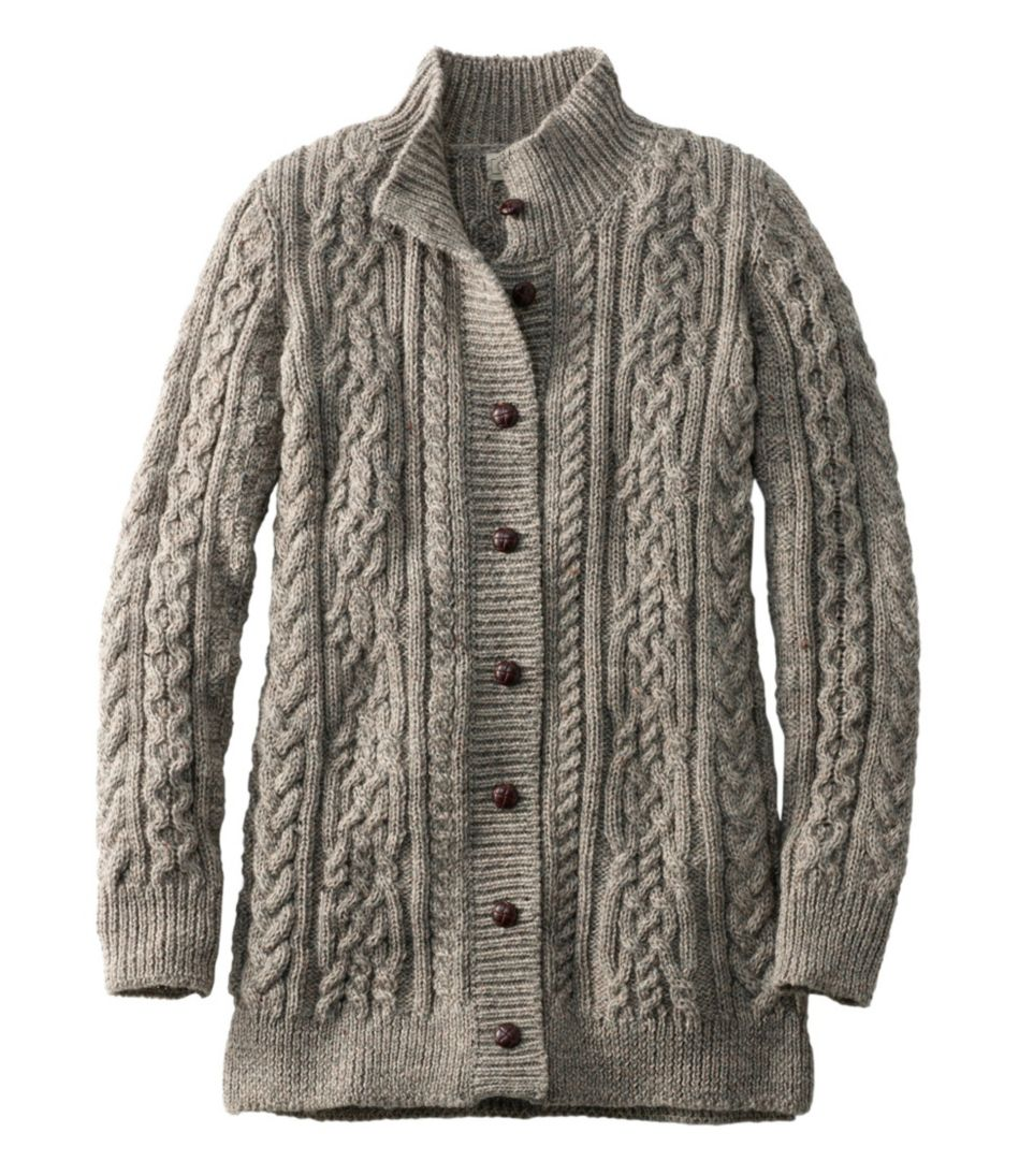 Womens 1912 Heritage Irish Fisherman Sweater Long Cardigan