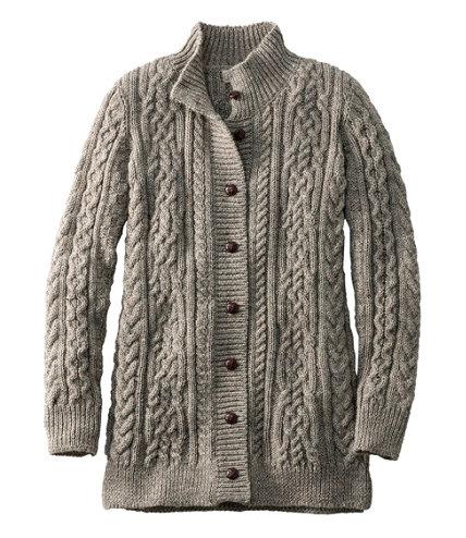1912 Heritage Irish Fisherman Sweater Long Cardigan