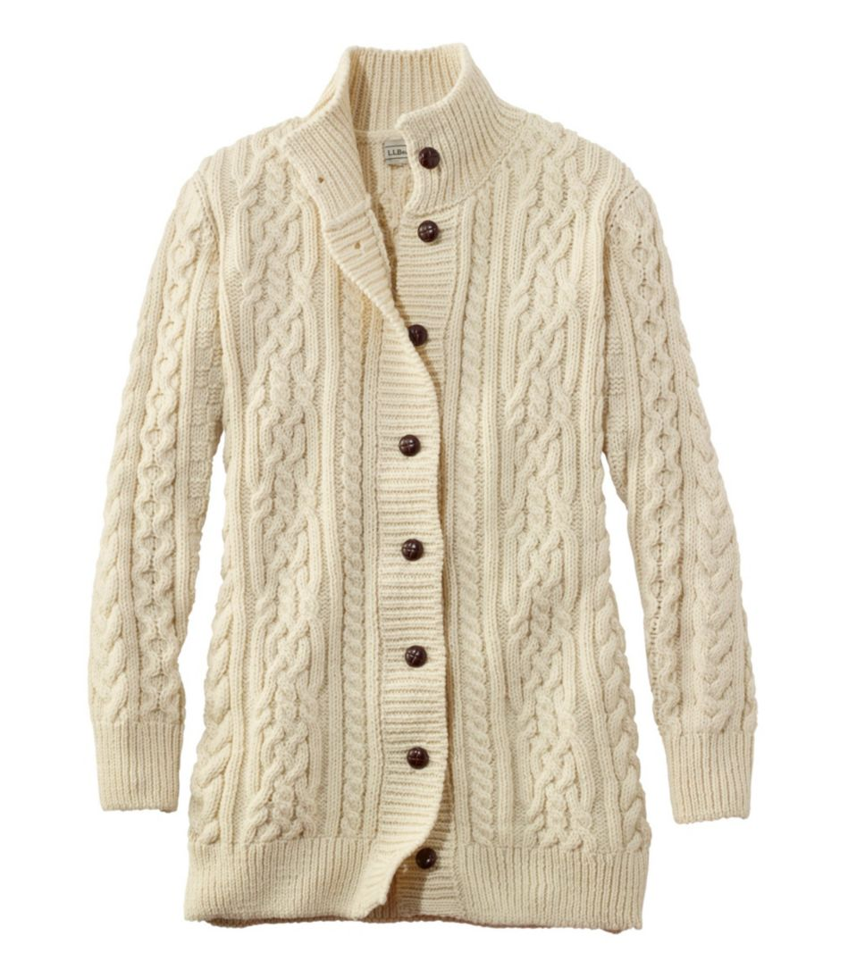 1912 Heritage Irish Fisherman Sweater, Long Cardigan