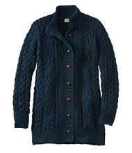 Women's 1912 Heritage Irish Fisherman Sweater, Long Cardigan