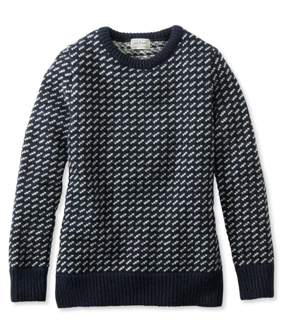 1912 Heritage Sweater, Norwegian Bird's-Eye Crewneck