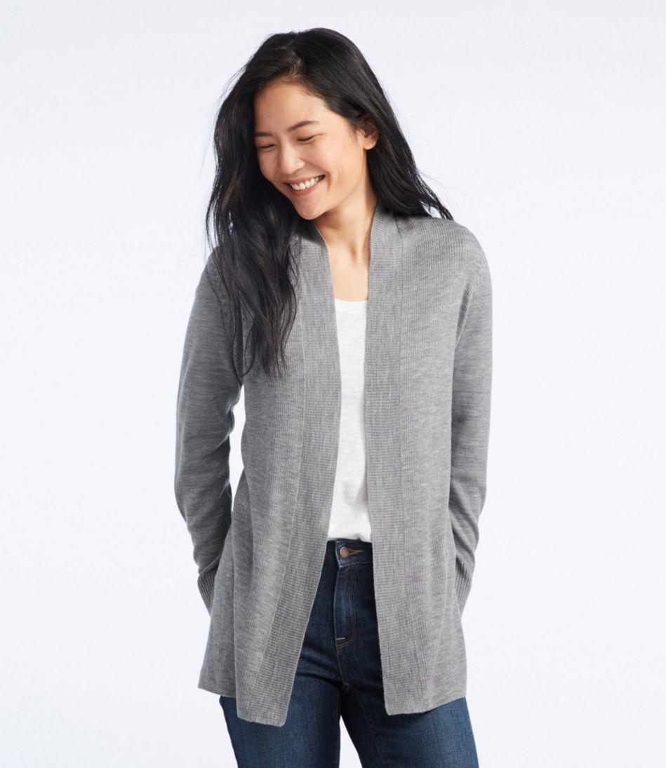 Washable Merino Wool Sweater, Cardigan