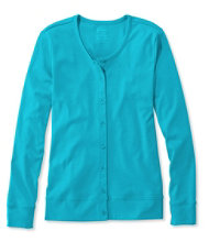 Pima Cotton Cardigan, Long-Sleeve